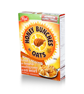 Post - Honey Bunches of Oats - Honey Roasted 411 g.